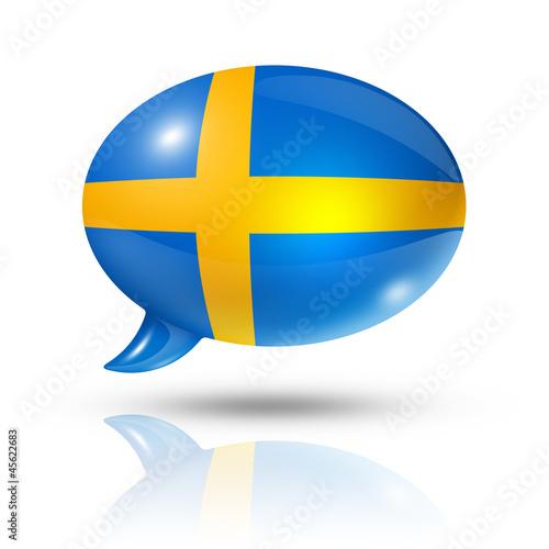 Wallpaper Mural Swedish flag speech bubble