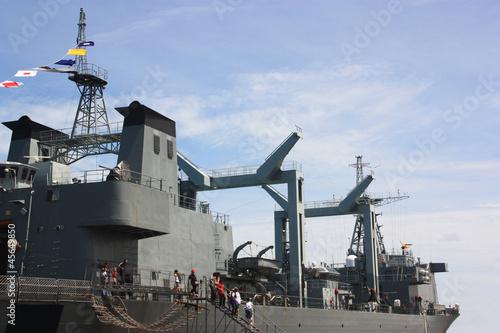 warship  in Thailand Fotobehang