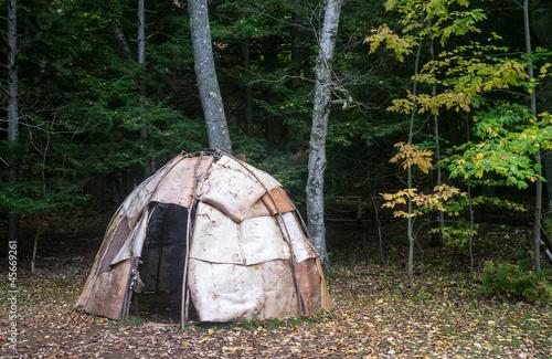 Fotografia Wigwam Primitive Native American Dwelling