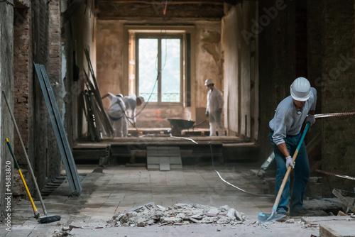 Fotografie, Obraz Operai in soffitta