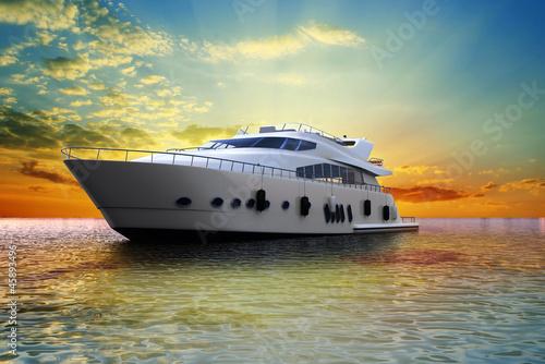 Carta da parati luxury yacht