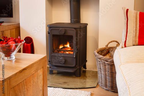 Slika na platnu Wood burning stove