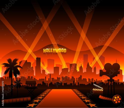 Fotografia, Obraz Hollywood movie red carpet