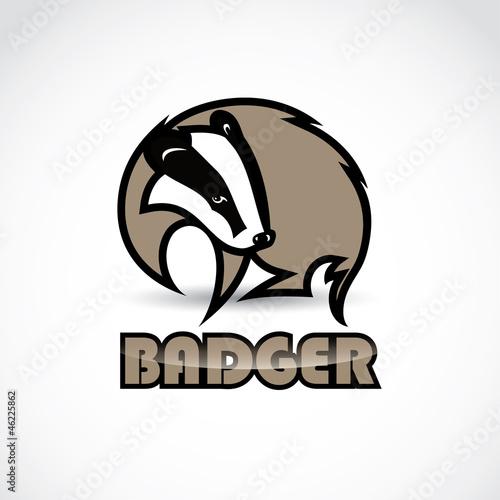Badger sign - vector illustration Fototapeta