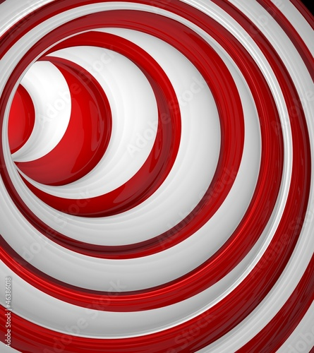 red circle abstract