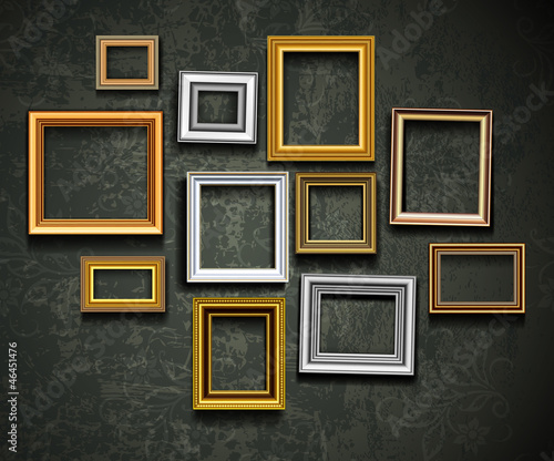 Picture frame vector. Photo art gallery.Picture frame vector. Ph #46451476