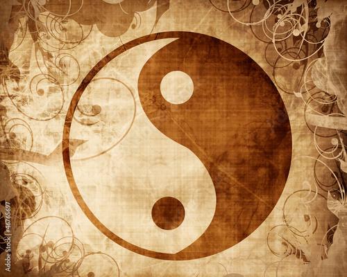 Canvas Print Yin Yang sign