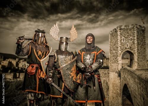Fotografia Three knight in armor