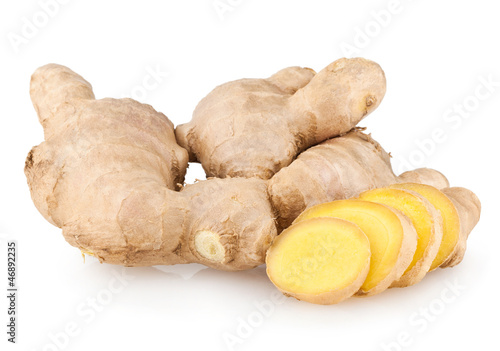 Fotografiet sliced ginger root