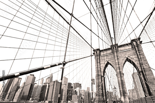 Fotografia Manhattan bridge, New York City. USA.