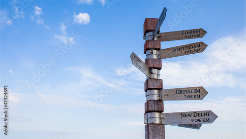 Canvas Print Signpost at Cape Point