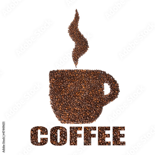 Coffee beans cup. Concept.