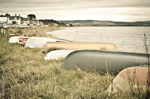 Tablou Canvas Boats at Findhorn