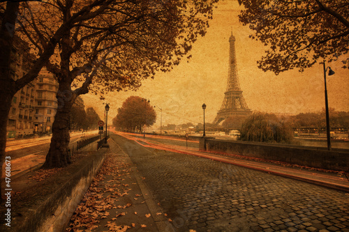 nostalgische Stadtansicht von Paris #47608673