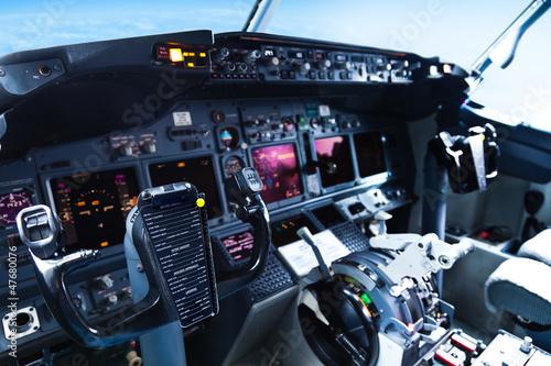 Fotografie, Tablou Passenger Aircraft Cockpit