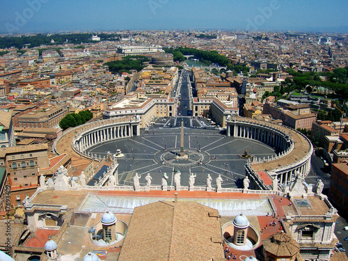 Fotografia, Obraz Place Saint-Pierre de Rome