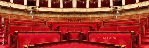 Hémicycle de l'Assemblée Nationale à Paris Fototapete
