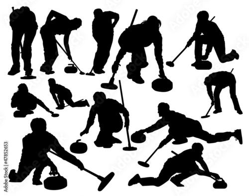 Cuadros en Lienzo curling vector