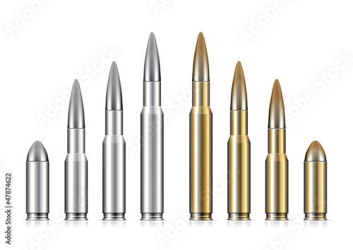 Obraz na plátně Set of bullets