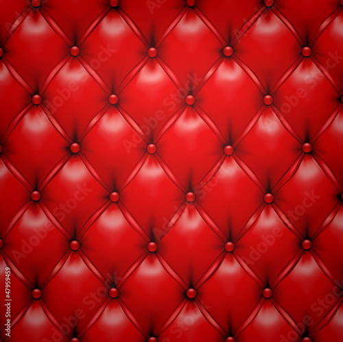 Red vector upholstery leather pattern background. #47959459