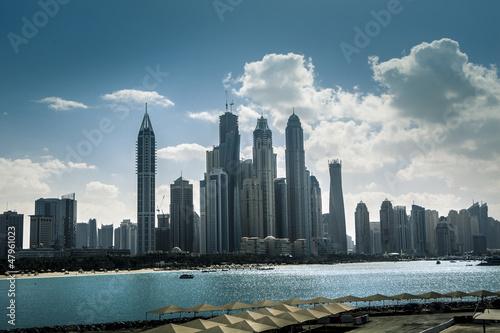 high luxury blue building skyscraper #47961023