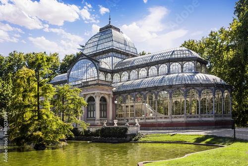 Fotografie, Obraz Crystal Palace in the Retiro Park, Madrid, Spain