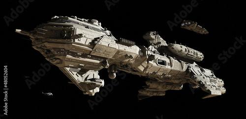 Interstellar Futuristic Escort Frigate Fototapeta