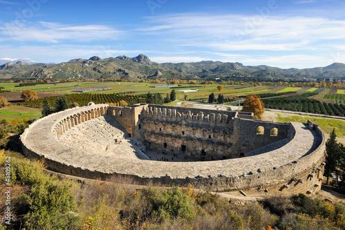 Roman amphitheatre of Aspendos Fototapet
