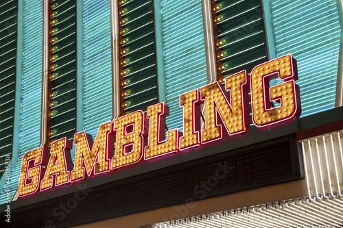 Carta da parati Gambling Sign