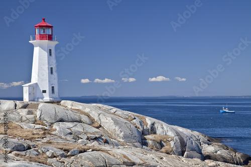 Canvas Print Peggy's Cove lighthouse, Nova Scotia, Canada.