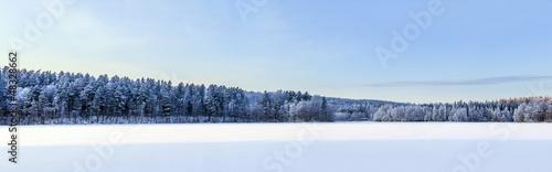 Winter lake panorama, Finland #48328662