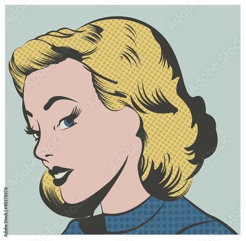 Pop Art Woman vector illustration