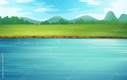 Canvas Print A river and a beautiful landscape