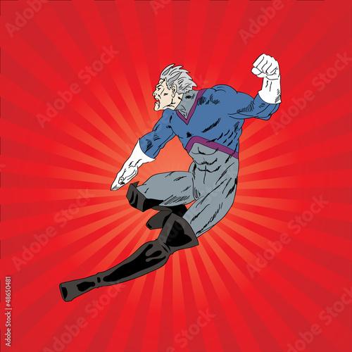 Vector illustration of comic book superhero