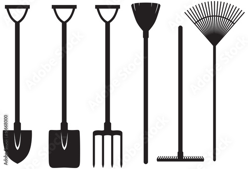 Fototapeta Gardening tools set