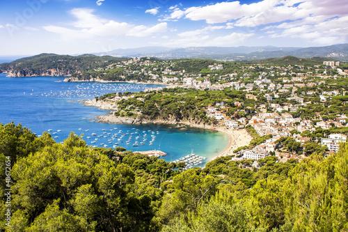 Valokuvatapetti Calella de Palafrugell and Llafranc (Costa Brava) view , Catalon