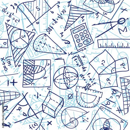 Canvas Print Mathematics seamless pattern