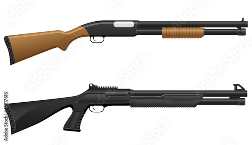Fotografia shotgun vector illustration