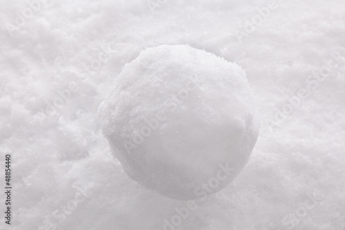 Canvas Print Snowball on snow background.