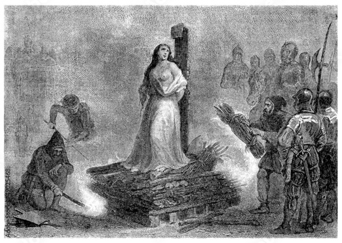 Fototapeta Cruel medieval Inquisition : Burning the Witch