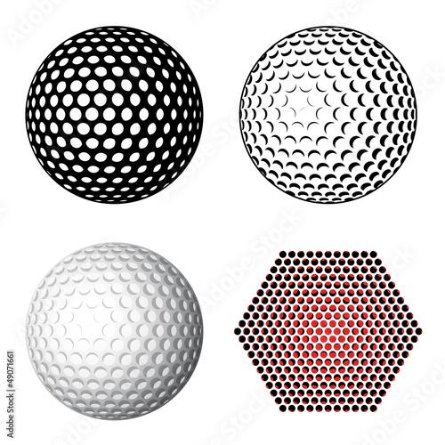 vector golf ball symbols Fototapet