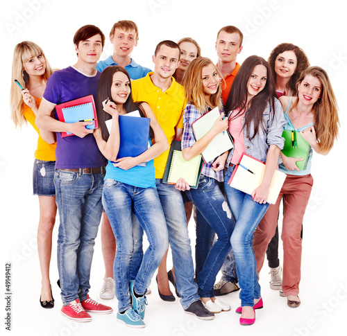 Group student with notebook. #49149412
