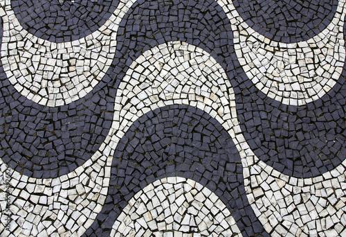 Background of Copacabana sidewalk