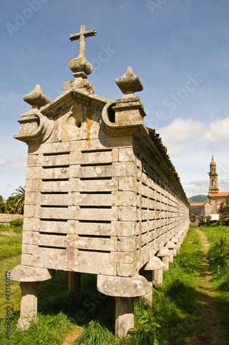 stone Horreo, a traditional granary in Galica, Spain