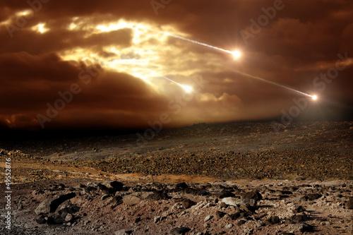 Stampa su Tela Meteors to the sky