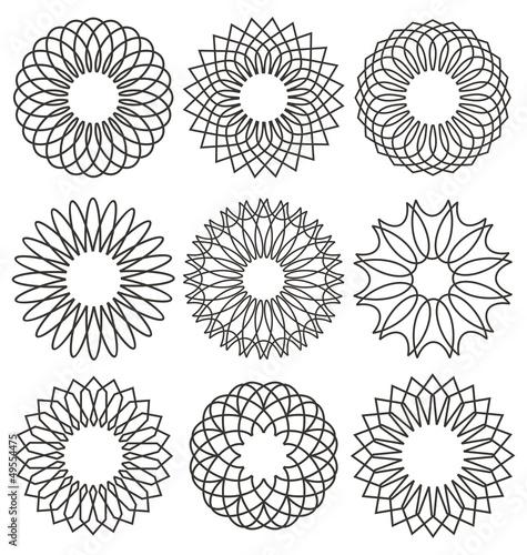 Set of rosettes, ornaments and decorative lines Fototapeta