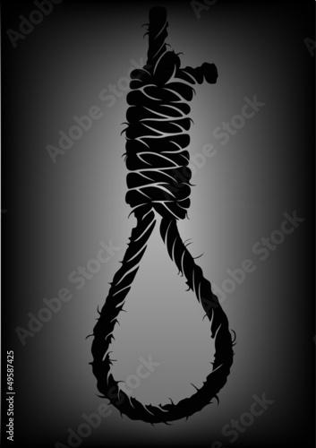 old rope with hangman's noose Fototapeta
