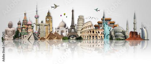 Podróżuj po koncepcji zabytków świata