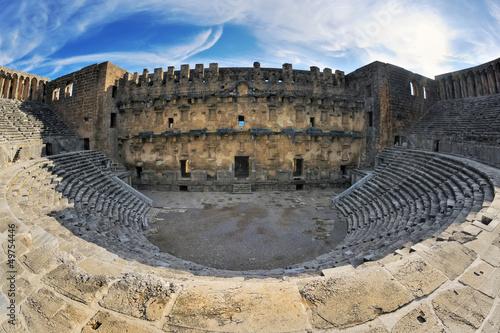 Billede på lærred Roman amphitheatre of Aspendos