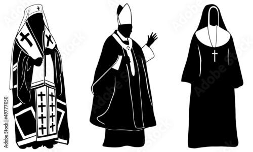 Obraz na plátne priests